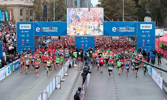 Se agotaron los 30 mil cupos para el Entel Maratón de Santiago 2017
