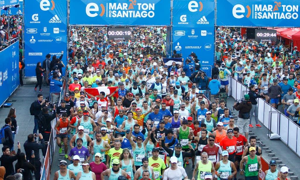 Entel Maratón de Santiago lanza app que te mantendrá en línea con los corredores