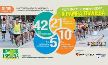 Con importantes premios en efectivo se realizará la 34° edición de la Maratón A Pampa Traviesa