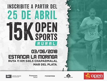 15K OPEN SPORTS RURAL @ Buenos Aires | 15K, 5K | Chapadmalal | Buenos Aires | Argentina