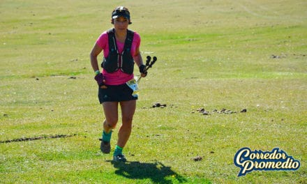 Macarena Zamora en las 100 millas de Patagonia Run