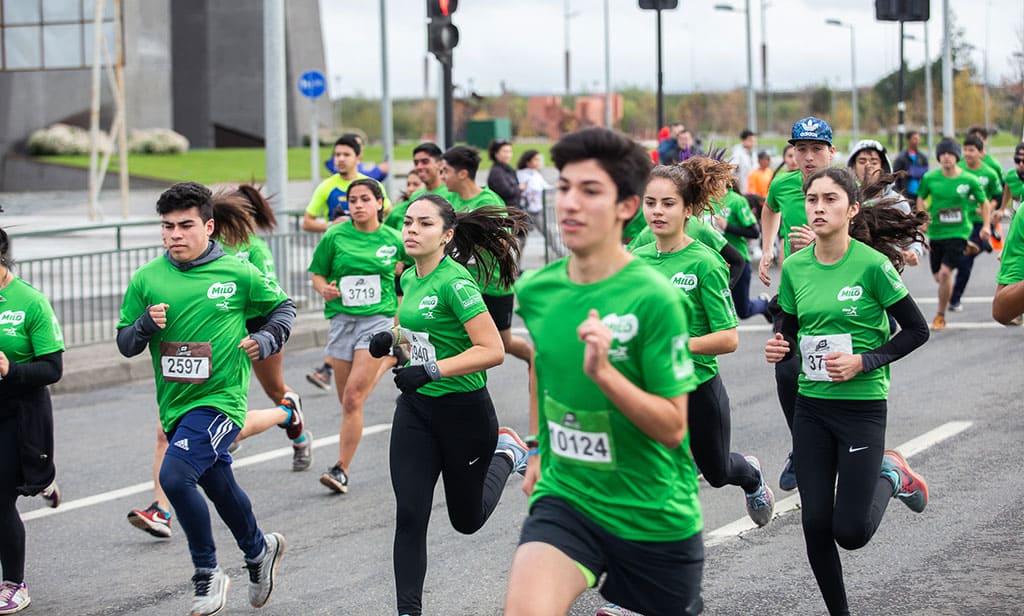 Corrida MILO repletó con más de 5 mil corredores las calles de Concepción