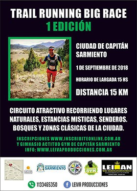 TRAIL RUNNING BIG RACE @ Buenos Aires | 15K | Capitán Sarmiento | Buenos Aires | Argentina