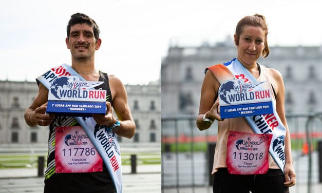 Francisco Méndez y Tanya Jiménez fueron los ganadores de Wings for Life World Run 2019