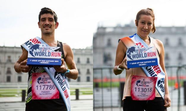 Francisco Méndez y Tanya Jiménez fueron los ganadores de Wings for Life World Run 2019