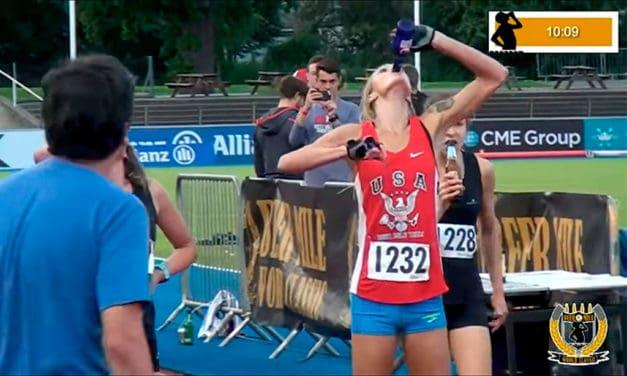 Allison Grace Morgan bate el récord mundial de Beer Mile