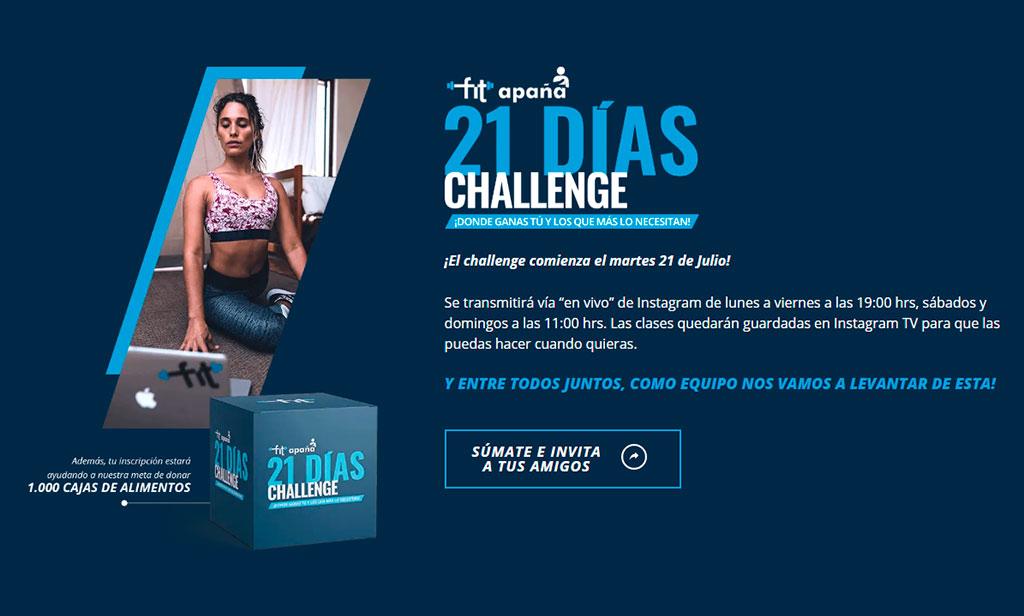 Aún falta para lograr la meta del 21 Días Challenge