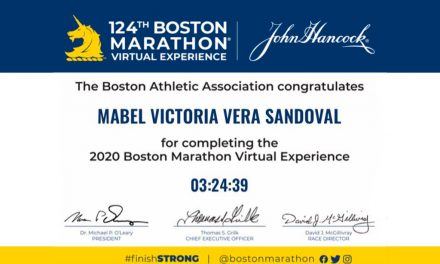 Embajadora de la fundación BostonRun completó el Maratón Virtual de Boston 2020
