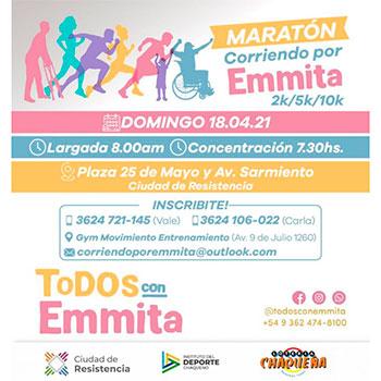 Maratón Corriendo por Emmita